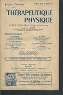 ANCIENNE REVUE 28 PAGES MEDECINE 1913 N° 108 ARCHIVES GÉNÉRALES DE THÉRAPEUTIQUE PHYSIQUE PAR N BARBATIS EDITEURS PARIS - Livres, BD, Revues