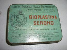 SCATOLINA DI LATTA ISTITUTO NAZIONALE MEDICO FARMACOLOGICO BIOPLASTINA SERONO - Scatole/Bauli