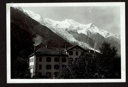 Photo 15 Cm X 10 Cm - 1934 - Haute-Savoie -  Chamonix - Le Mont Blanc Du Balcon De L'hôtel - Grand Hotel Beau Rivage - Lugares
