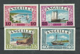 Anguilla N° 16 / 19 XX Bateaux D'Anguilla La Série Des 4 Valeurs Sans Charnière, TB - Anguilla (1968-...)