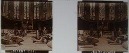 Plaque De Verre Stéréoscopique Positive - Première Guerre Mondiale - Marne - Église Occupée En 1914 - Diapositivas De Vidrio