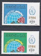 A0277 LIBYA 1986, SG 1911-2 International Peace Year, MNH - Libya