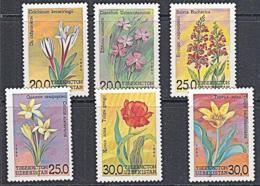 A1322 UZBEKISTAN 1993, SG 35-40  Flowers,  MNH - Ouzbékistan