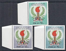 L0009 LIBYA 1979,  SG 871, 872a & 872  High Value Definitives, MNH  (CV = £39) - Libya
