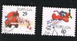 PORTOGALLO (PORTUGAL)  -  SG 2129.2130  - 1989 GREETINGS STAMPS (COMPLET SET OF 2)   -     USED° - 1910-... République