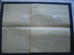 CERTIFICAT MARINE 1939 : TOLIER CENTRE SNCF / TOULON / VAR - Documentos