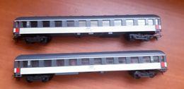 2 Wagons Passager SNCF 1ere Classe   / LIMA 1:87/HO - Scompartimento Viaggiatori