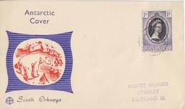 FDC Des Falkland Dependencies N° 50 (couronnement D'Elisabeth II) Obl. South Orkneys Le 4 JU 53 - Falkland