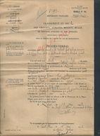 MILITARIA DOCUMENT MILITAIRE 12,18 LÉGION DE GENDARMERIE CANTAL SAINT FLOUX BRIGADE RUINES PROCÈS CHEVAUX JUMENTS LIRE - Documentos