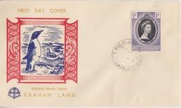 FDC Des Falkland Dependencies N° 50 (couronnement D'Elisabeth II) Obl. Graham Land Le 4 JU 53 - Falkland