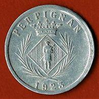 NECESSITE / PERPIGNAN / CHAMBRE SYNDICALE DES COMMERCANTS / 5 C./ ALU / 1923 - Monétaires / De Nécessité