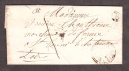LAC - 29 Août 1858 - T22 St Pal De Chalençon - Boîte Rurale B (Tiranges) Pour St Bonnet Le Château - Port Dû 1 Décime - 1849-1876: Periodo Classico
