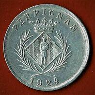 NECESSITE / PERPIGNAN / CHAMBRE SYNDICALE DES COMMERCANTS / 5 C./ ALU / 1924 - Monétaires / De Nécessité