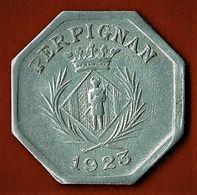 NECESSITE / PERPIGNAN / CHAMBRE SYNDICALE DES COMMERCANTS / 10 C./ ALU / 1923 - Monétaires / De Nécessité