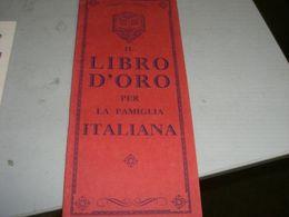 """LIBRETTO """"IL LIBRO D'ORO PER LA FAMIGLIA ITALIANA"""" PUBBLICITARIO SANERBA - Reclame"""