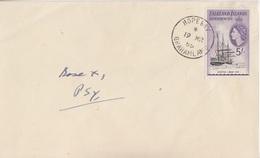 Lettre Des Falkland Dependencies N° 63 (navire Scotia) Obl. Hope Bay Le 19 MR 55 + Base X1 Psy - Falkland