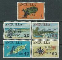 Anguilla N° 47 / 51 XX Noël La Série Des 5 Valeurs Sans Charnière, TB - Anguilla (1968-...)