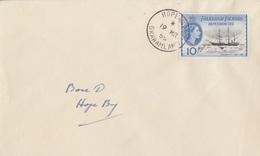 Lettre Des Falkland Dependencies N° 64 (navire Antarctic) Obl. Hope Bay Le 19 MR 55 + Base D Hope Bay - Falkland