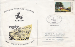SPORTS, RUGBY, TUCUMAN PROVINCE UNION, SPECIAL POSTCARD, 1994, ARGENTINA - Rugby