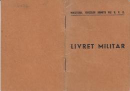 MILITARY RECORD BOOKLET, PHOTO ID, 12 SHEETS, 1951, ROMANIA - Documentos Históricos