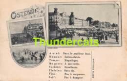 CPA OOSTENDE OSTENDE +/- 1895  LA DIGUE DE MER L'ENTREE DU KURSAAL ... - Oostende