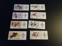 K33638 -  Set With Tabs  MNH Poland 1967 - SC. 1502-1509 - Olympics Mexico - Verano 1968: México