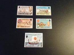 K33528 -set And Stamp MNH Isle Of Man 1974 - 1979 - SC. 44-47 - Magnus Haraldson And Odin's Raven - Isla De Man