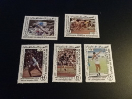 K33532 -  Set MNH Rep. Mauritanie 1984 - OlympicsLos Angeles - Sommer 1984: Los Angeles