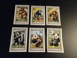 K33561 Stamps MNH Mongolia - 1974 - Bears - Misprint On 80c - Mongolie