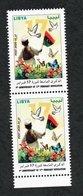 2020- Libya- 9th Anniversary Of 17th February Revolution- Butterflies - Dove - Bird- Flag - Pair -Complete Set 1v.MNH** - Libya