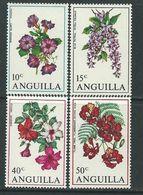 Anguilla N° 56 / 55 XX Fleurs Des Antilles, La Série Des 4 Valeurs Sans Charnière, TB - Anguilla (1968-...)