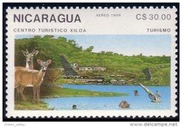 684 Nicaragua Deer Chevreuil MNH ** Neuf SC (NIC-137a) - Game