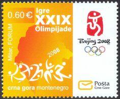 2008 Olympic Games, Beijing, China, Montenegro, MNH - Montenegro