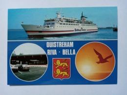 """OUISTREHAM-RIVA BELLA - Car-Ferry - Lancement De La Ligne Ouistreham-Portsmouth Le 6 Juin 1986 (""""Duc De Normandie""""). - Ouistreham"""