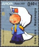 2008 EUROPA Stamps, Writing Letters, Montenegro, MNH - Montenegro