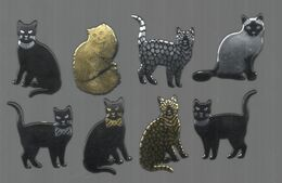 PINS PIN'S CHAT CAT CHATON  LOT 8 PINS - Dieren