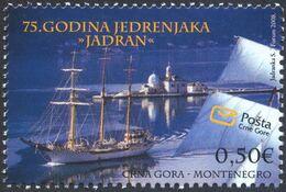 2008 Sail Training Ship, Jadran, 75th Anniversary, Montenegro, MNH - Montenegro