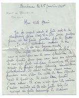 Libération De  Bordeaux, Guerre 39-45 - Lettre Du 25 Janvier 1945, Racontant Le Départ Des Allemands De Bordeaux - WW2 - Documentos
