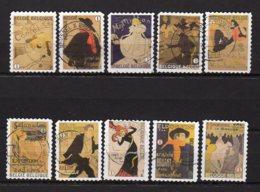 BELGIQUE    Oblitéré    Y. Et T.    N° 4126 / 4135       Cote: 16,00 Euros - Used Stamps