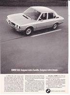 Feuillet De Magazine BMW 518 1975 - Cars