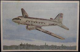 DOUGLAS DC-3 / Yugoslav Airlines JAT / Nice Vintage Postcard , Not Travelled - 1946-....: Modern Era