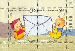 2008 EUROPA Block, Writing Letters, Montenegro, MNH - Montenegro