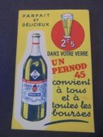 ALCOOL - PERNOD - PETIT CARNET PUBLICITAIRE POUR ECRITURE - Altri