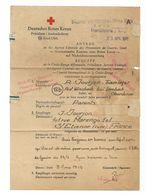 1945 Croix Rouge Allemande - Lettre Donnant Des Nouvelles D'un Prisonnier Francais - Pas Connaisseur - Voir Scans - WW2 - Documentos