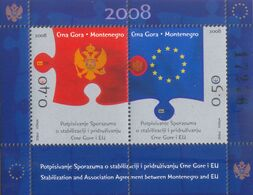 2008 Carnet, Signing Of The Stabilization And Association Agreement Between Montenegro And The EU, Montenegro, MNH - Montenegro