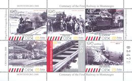2008 Carnet, The 100th Anniversary Of The First Montenegrian Railroad, Montenegro, MNH - Montenegro