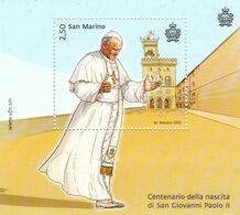 San Marino 2020 Pope John Paul II S MNH - Päpste