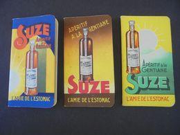 ALCOOL - SUZE, L'AMIE DE L'ESTOMAC : 3 CARNERTS DIFFERENTS 1938, 1939,1940  -  CARNETS PUBLICITAIRES POUR ECRITURE - Altri