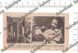 1924 - VOLPE Wolf - Pelliccia Struzzo - Da Pubblicazione Originale D'epoca - Cromos Troquelados