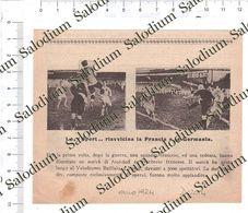1924 - Calcio Football France Germany - Da Pubblicazione Originale D'epoca - Cromos Troquelados